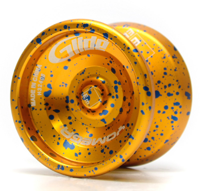 Yellow and Blue Speckled Yomega Glide