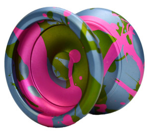 Blue Pink and Green Yomega Prodigy